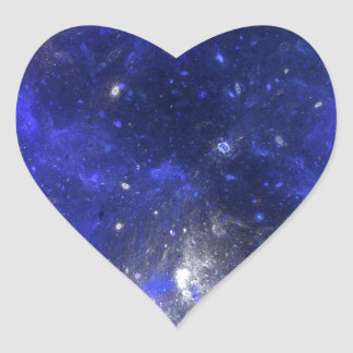 Blue Space Heart Sticker