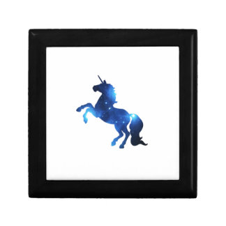 Blue Space Unicorn Horse Gift Box