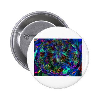 Blue Sparkle Alien Planet Pins