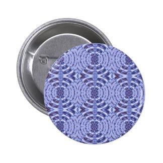 BLUE Sparkle Crystals 6 Cm Round Badge