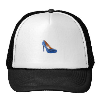 Blue Sparkle High Heel Shoe Fashion Hats
