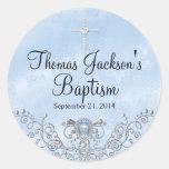 Blue Sparkle Jewel Baptism Sticker