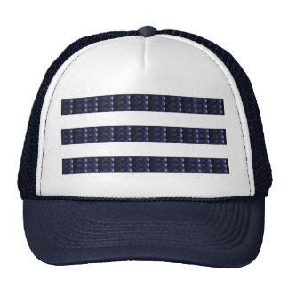 BLUE SPARKLE STRIPES: ARTISTIC DECORATIVE GIFTS CAP