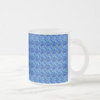 BLUE Sparkle Stripes Pattern Elegant GIFTS Xmas Mugs