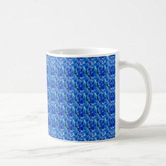 BLUE Sparkle Stripes Pattern Elegant GIFTS Xmas Coffee Mugs