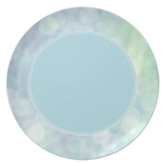 Blue sparkles / glitter plate (matt)