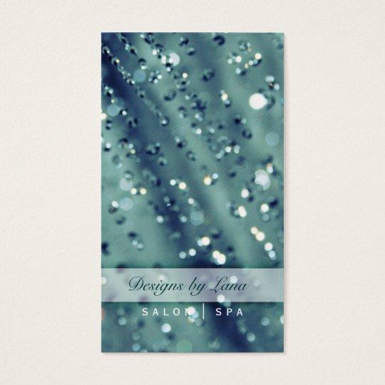 Blue Sparkles Sparkly Salon Spa Business Card