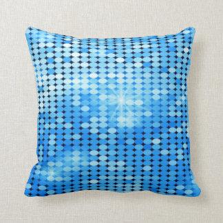 blue sparkles throw pillow