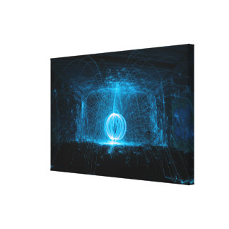 Blue sparks canvas print