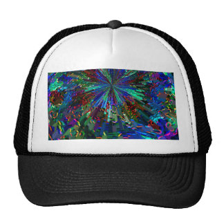 BLUE Spectrum Wave Sparkle Abstract TEMPLATE fun Hats
