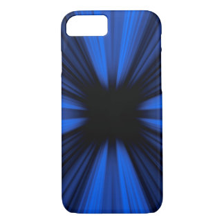 Blue speed lines explosion iPhone 7 case