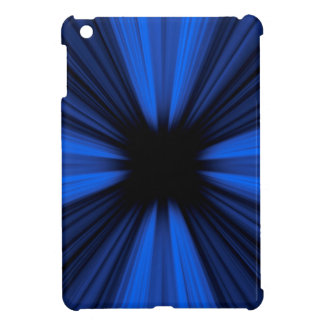 Blue speed lines iPad mini cover