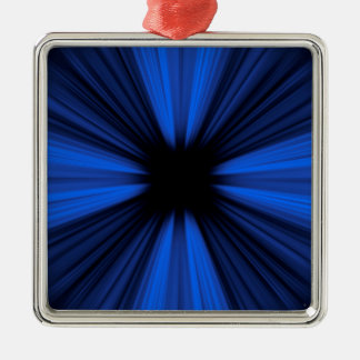 Blue speed lines Silver-Colored square decoration