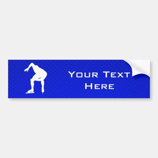 Blue Speed Skater Bumper Sticker
