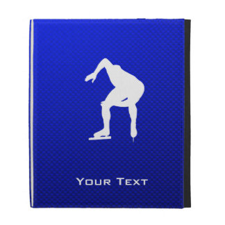 Blue Speed Skater iPad Cases
