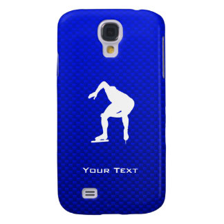 Blue Speed Skater Galaxy S4 Cover