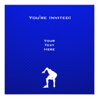 Blue Speed Skater Invite
