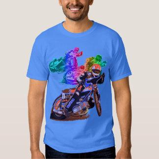 Blue Speedway Motorcycle Racer Tee Shirt