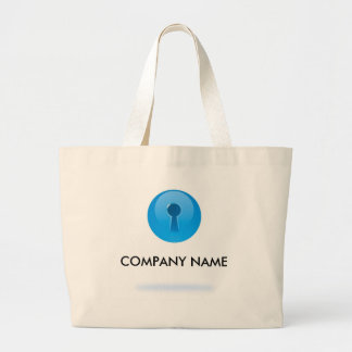 Blue Sphere With Keyhole Customizable Bag