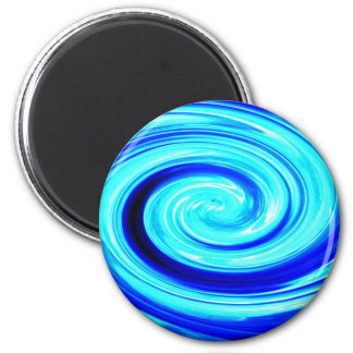 Blue Spherical Geometric Pattern Magnets
