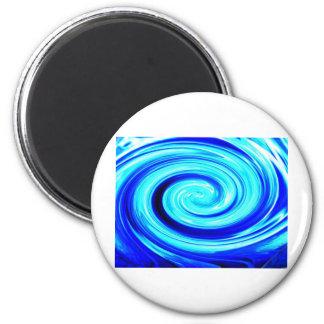 Blue Spherical Geometric Pattern Refrigerator Magnet