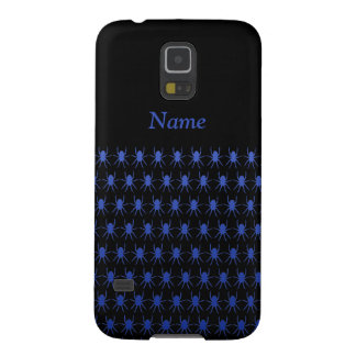 Blue spiders on black Personalise-It Case For Galaxy S5