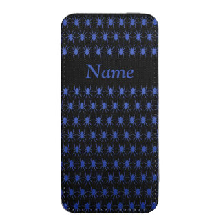 Blue spiders on black Personalise-It
