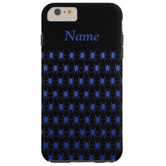 Blue spiders on black Personalised 6/6s Tough iPhone 6 Plus Case