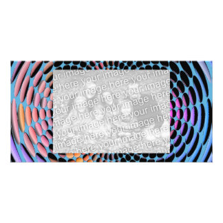 Blue Spin Photo Greeting Card