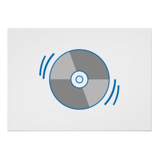 Blue Spinning CD Posters