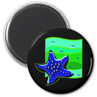 Blue Spiny Starfish Magnet