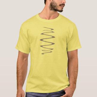 Blue Spiral abstract art T-Shirt