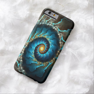 blue spiral abstract design fractal barely there iPhone 6 case