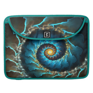 blue spiral abstract design fractal sleeve for MacBook pro