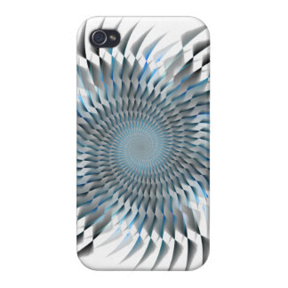 Blue spiral blades case for iPhone 4