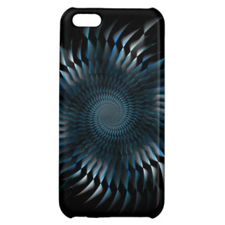 Blue spiral blades iPhone 5C cover