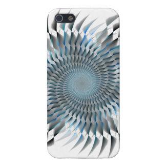 Blue spiral blades iPhone 5 case