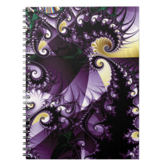 Blue Spiral Fractal with Spikes Note Book