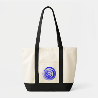 Blue Spiral Illusion by Kenneth Yoncich Impulse Tote Bag