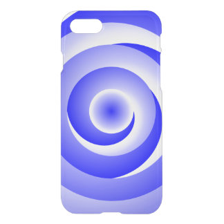 Blue Spiral Illusion by Kenneth Yoncich iPhone 7 Case
