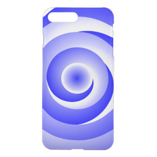 Blue Spiral Illusion by Kenneth Yoncich iPhone 7 Plus Case