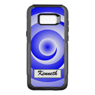Blue Spiral Illusion by Kenneth Yoncich OtterBox Commuter Samsung Galaxy S8+ Case
