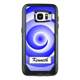 Blue Spiral Illusion by Kenneth Yoncich OtterBox Samsung Galaxy S7 Edge Case