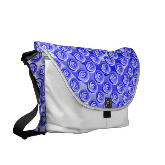 Blue Spiral Illusion Commuter Bags