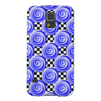 Blue Spiral Illusion Galaxy S5 Covers