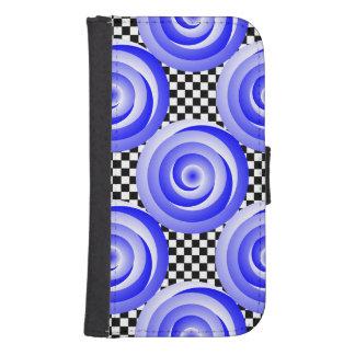 Blue Spiral Illusion Phone Wallet