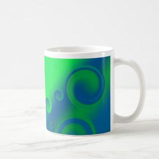blue spiral  Mug
