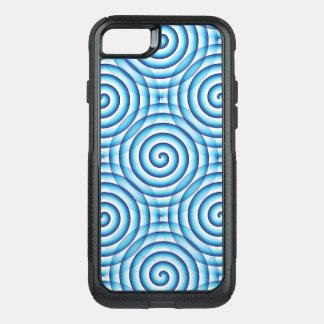 Blue Spiral OtterBox Commuter iPhone 8/7 Case