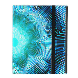 Blue Spiral Psychedelic iPad Folio Case