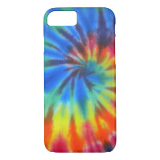 Blue Spiral Tie-Dye iPhone 7 case